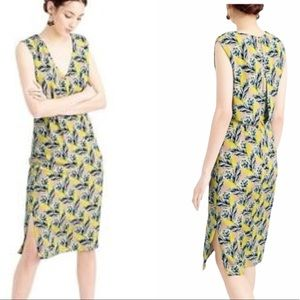J. Crew Silk Yellow Spring Meadow Floral Dress - 2